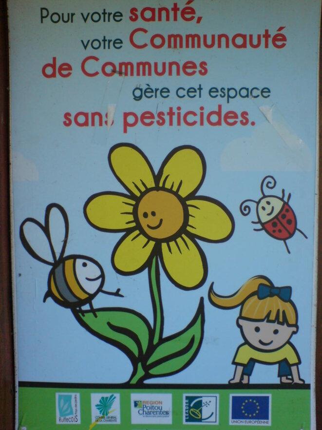 Espace vert géré sans pesticide... © Photo JC Mathias