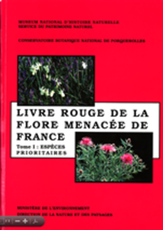 Livre rouge de la flore menacée de France -Tome I, espèces prioritaires (1995) © Fédération des Conservatoires Botaniques Nationaux (FCBN)