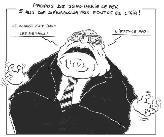 Propos de Jean-Marie Le Pen: 5 ans de dédiabolisation foutus en l'air © vinch