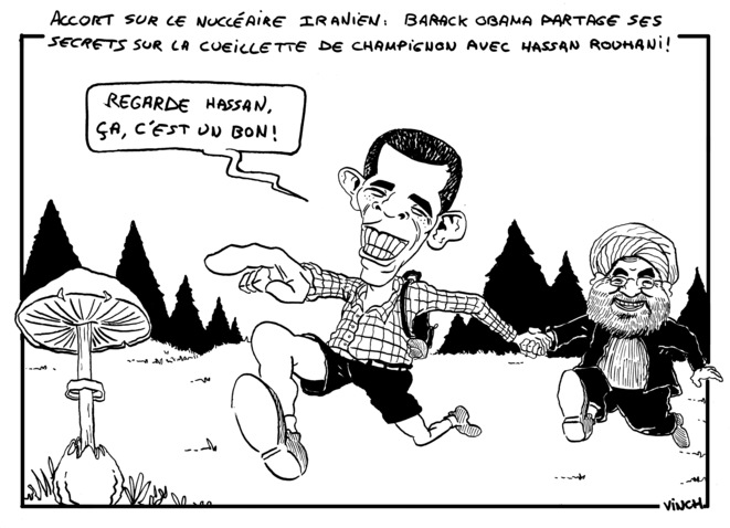 Accord sur le nucléaire iranien : Barack Obama partage les secrets de la cueillette de champignon avec Hassan Rouhani © vinch