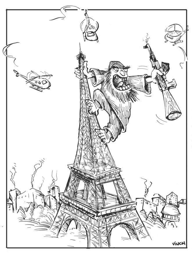 Attentats du 13 Novembre 2015: Paris en état d'urgence! © vinch