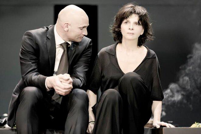 """Patrick O'Kane et Juliette Binoche dans  """"Antigone"""""""