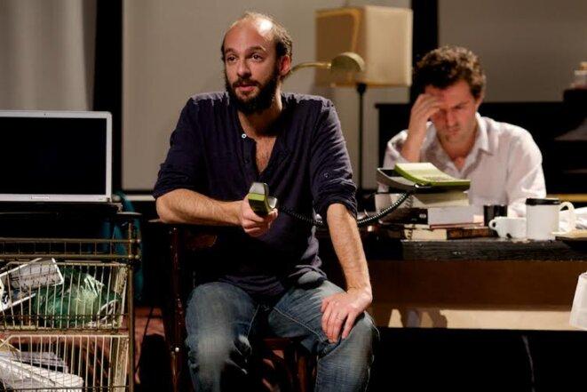 A gauche David Geselson à droite Elios Noël © Charlotte Corman