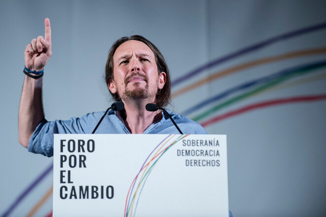 Pablo Iglesias, líder de Podemos. © Flickr/Podemos