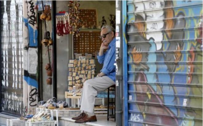 En el centro de Atenas, martes 7 de julio de 2015. © Reuters