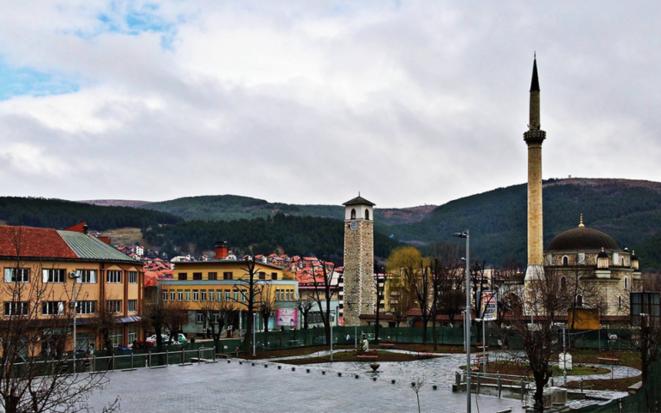 La plaza central de Pljevlja.