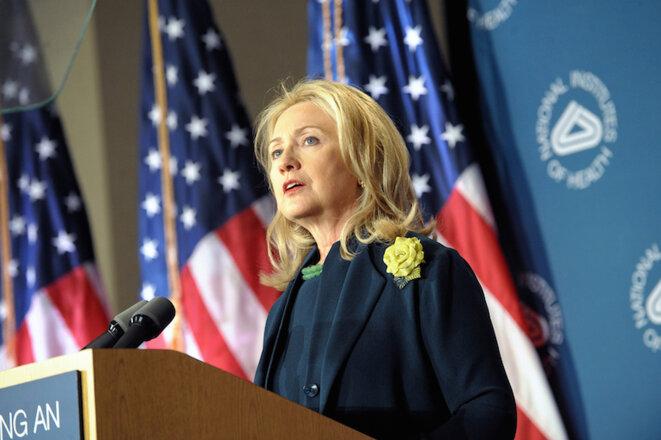 Hillary Clinton durante un discurso en 2011.  © State Department