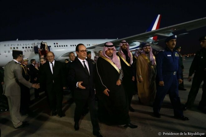 Hollande en su visita a Arabia Saudita en enero 2015. © Présidence de la République