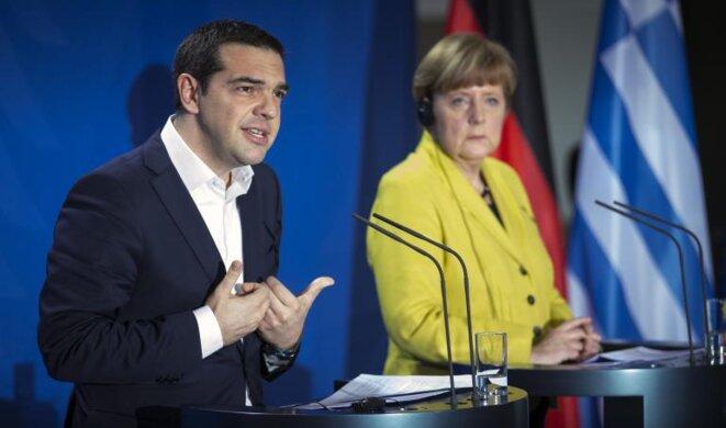 Encuentro entre Alexis Tsipras y Angela Merkel en Berlín el 24 de marzo de 2015. © Reuters