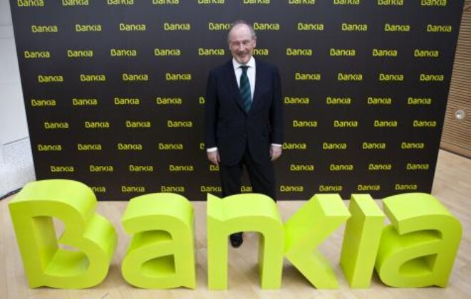 Rodrigo Rato cuando dirigía Bankia.  © Bankia