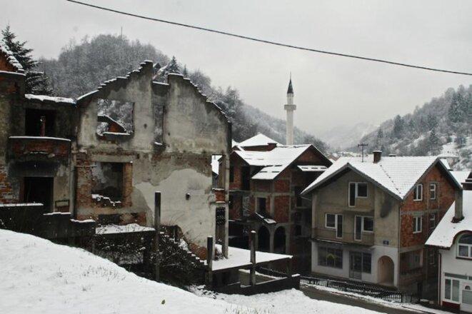 En el centro de Srebrenica 6 400 casas fueron destruidas. © Laurent Geslin