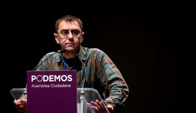 El ex número tres de Podemos, Juan Carlos Monedero, da un mítin el pasado noviembre. © PODEMOS