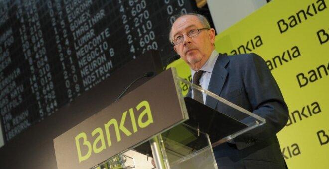 Rodrigo Rato en el debut bursátil de Bankia.  © Flickr