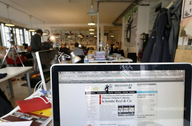 La redacción de Mediapart en 2013.  © Reuters