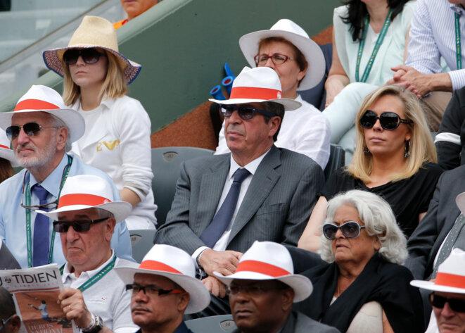 Patrick Balkany, le 2 juin 2014, à Roland-Garros © Reuters