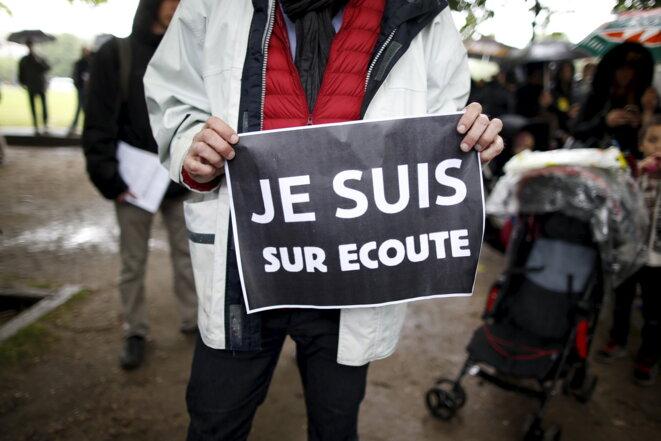Manifestation du 4 mai 2015 contre la loi renseignement. © Reuters