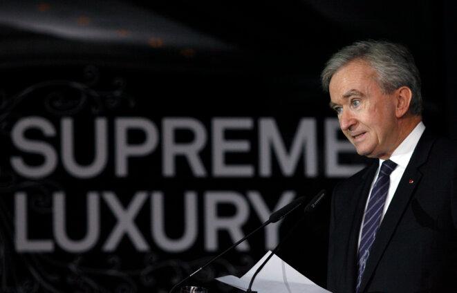 Bernard Arnault (LVMH), en novembre 2007. © Reuters