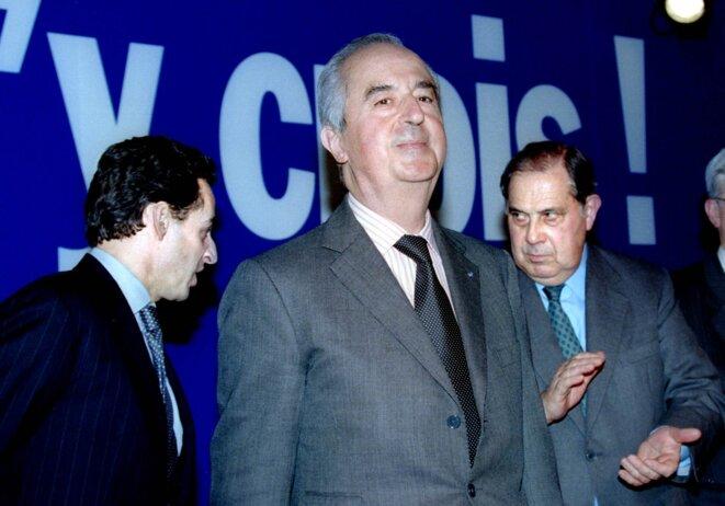 Pendant la campagne présidentielle de 1995, avec Nicolas Sarkozy et Charles Pasqua..