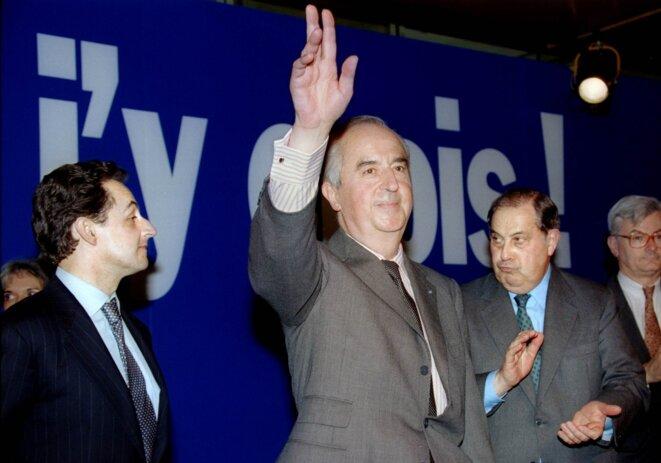 MM. Sarkozy, Balladur et Pasqua en 1995. © Reuters
