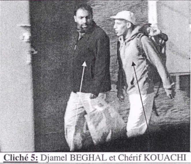 Photo de surveillance policière de 2010 de Chérif Kouachi avec Djamel Beghal © DR