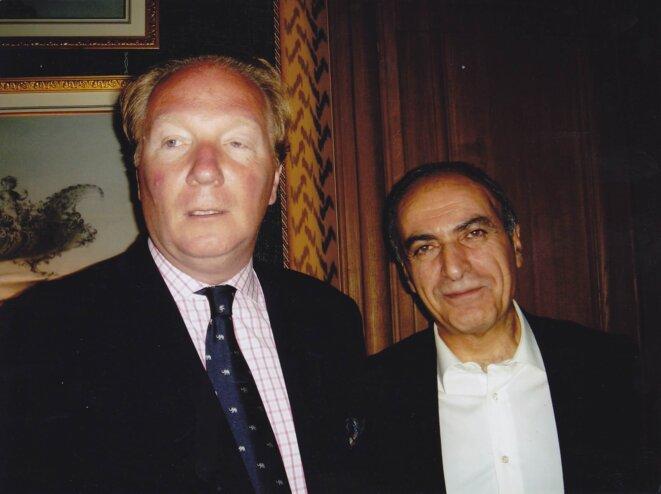 MM. Hortefeux et Takieddine, au domicile de ce dernier, en 2005
