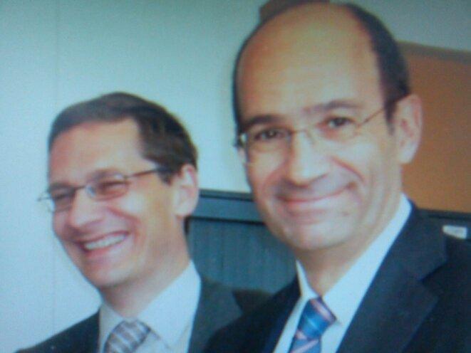 MM. Carpentier et Eric Woerth, ancien ministre du budget.  © DR