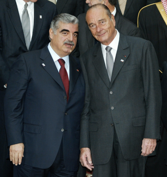 MM. Hariri et Chirac