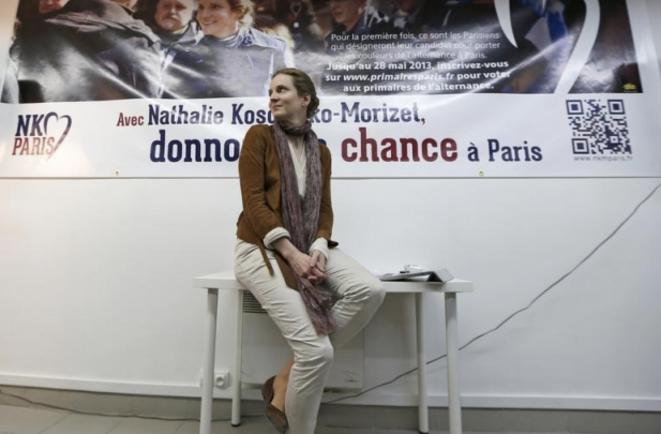 """NKM"", en campagne. © Reuters"