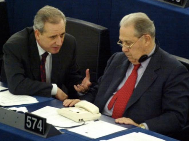 L'ancien préfet Marchiani avec Charles Pasqua.