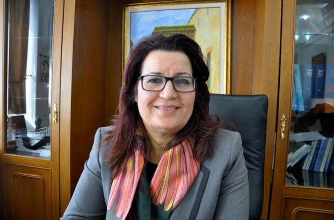 Samira Merai, nouvelle ministre de la femme et de famille, dans son bureau de Tunis.