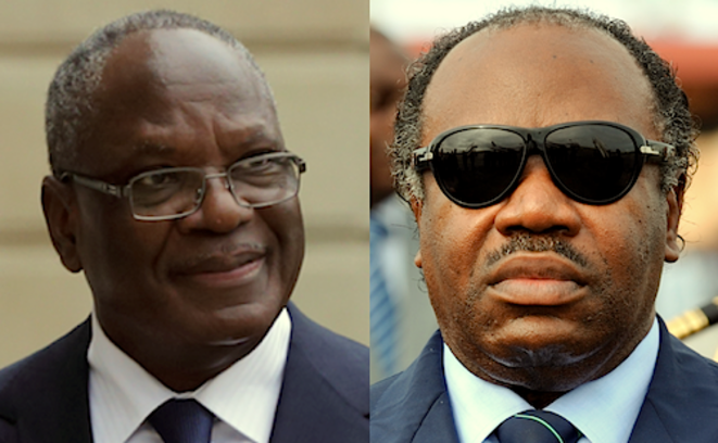 Ibrahim Boubacar Keita et Ali Bongo © Reuters