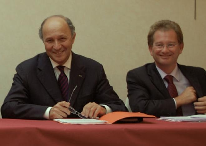 Laurent Fabius et Didier Marie