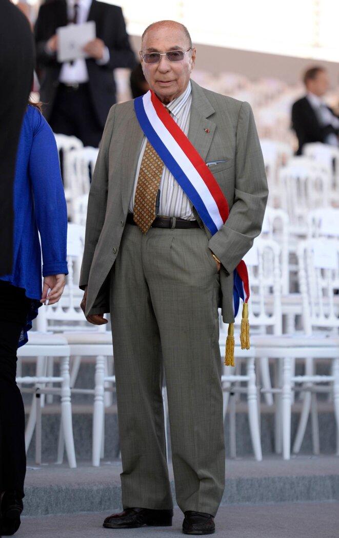 Serge Dassault, le 14 juillet 2013, à la Bastille (Paris).  © Reuters