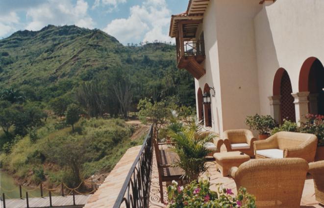 Le balcon de la maison Gaubert.  © dr