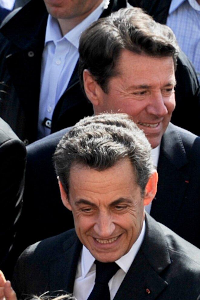 MM. Estrosi et Sarkozy  © Reuters