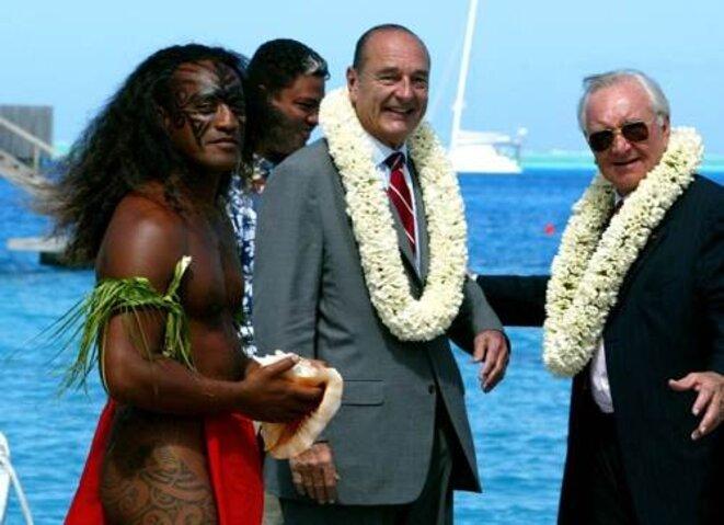 MM.Chirac et Flosse © Reuters