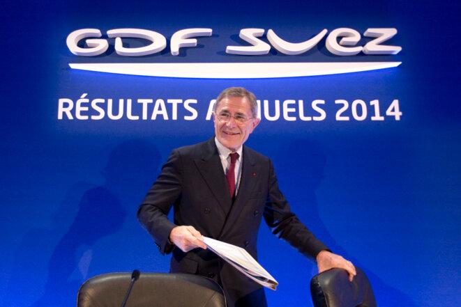 Gérard Mestrallet, PDG de GDF-Suez, le 26 février 2015.