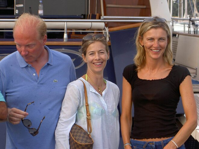 Brice et Valérie Hortefeux et Nicola Johnson-Takieddine