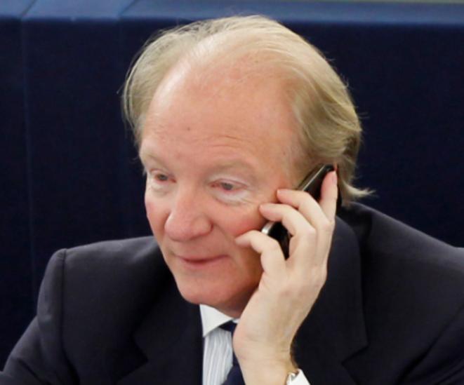Brice Hortefeux au Parlement européen. © Reuters