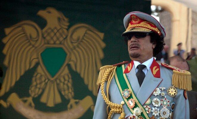 Mouammar Kadhafi, à Tripoli. © Reuters.