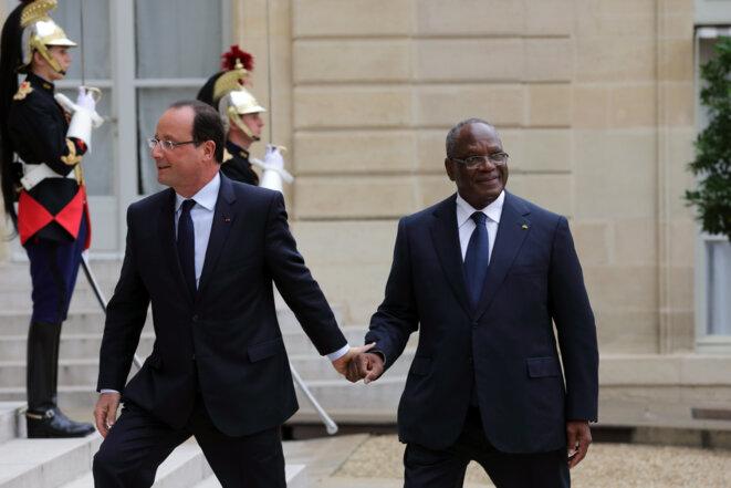 MM. Hollande et Keita, à l'Elysée.