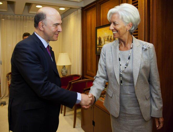 Christine Lagarde et Pierre Moscovici