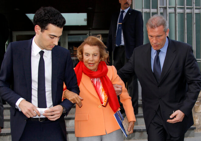 Liliane Bettencourt, le 29 mars 2012 © Reuters