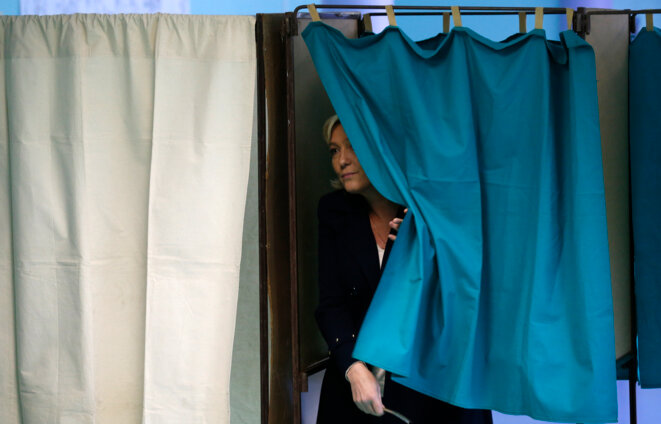 Marine Le Pen, le 29 mars 2015. © Reuters