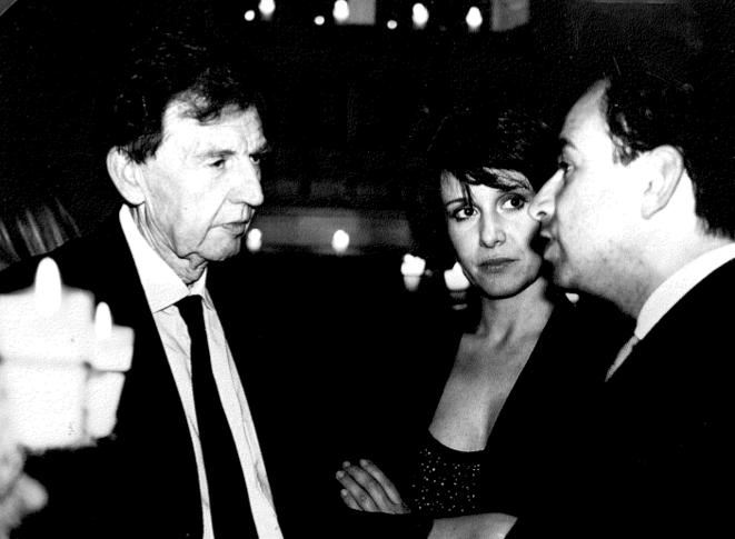MM. Mougeotte et Copé et Mlle Rousseau chez Ziad Takieddine. © (dr.)