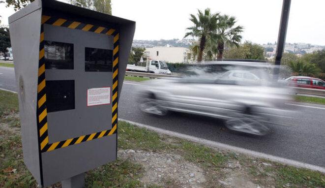 Radars routiers, à Nice.