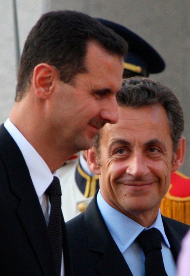 M. Sarkozy et Assad © Reuters
