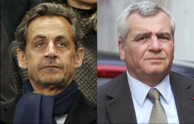 Nicolas Sarkozy et son avocat, Thierre Herzog.