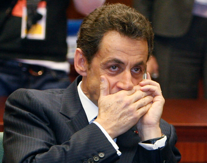 "Nicolas Sarkozy, alias ""Paul Bismuth"". © Reuters"