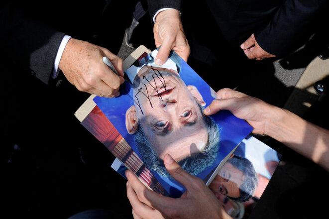 Mis en examen en mars 2013, Nicolas Sarkozy a finalement profité d'un non-lieu en octobre.  © Reuters